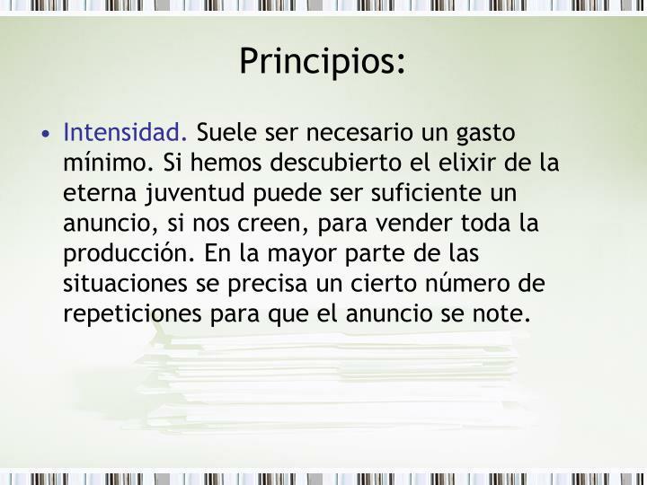 Principios: