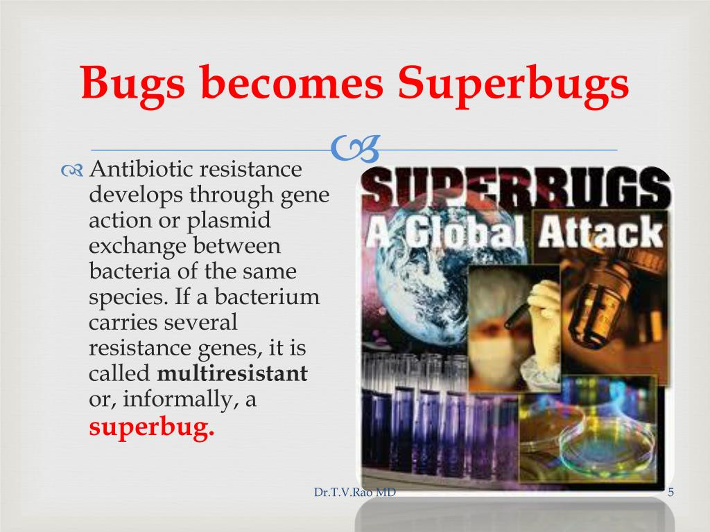 Bugs becomes Superbugs