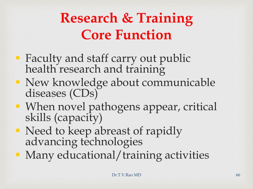 Research & Training