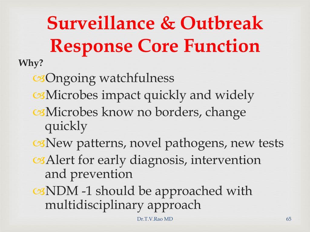 Surveillance & Outbreak Response Core Function