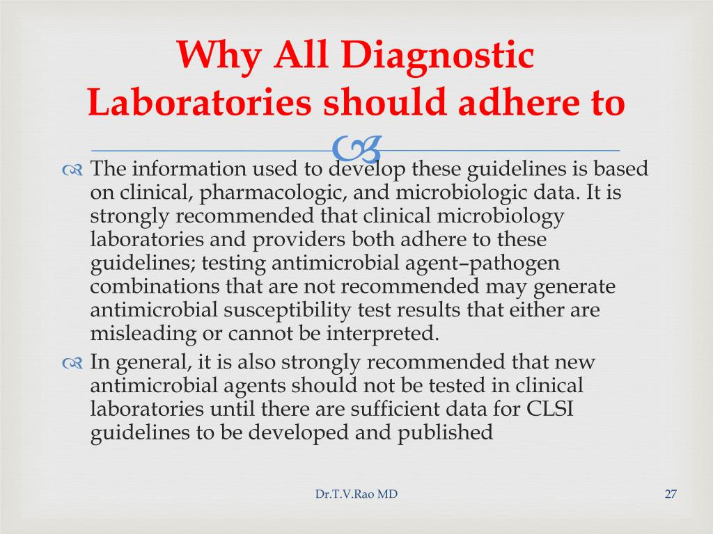 Why All Diagnostic Laboratories should adhere to