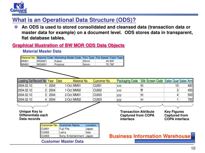 What is an Operational Data Structure (ODS)?