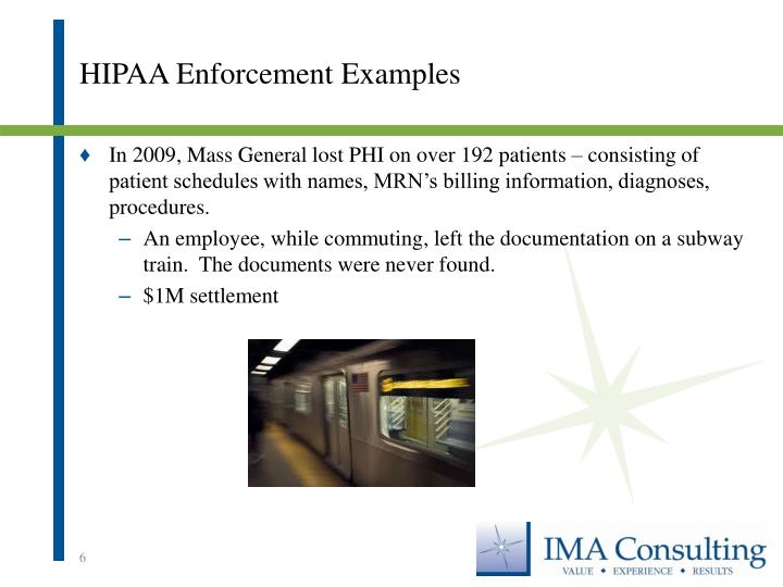 HIPAA Enforcement Examples