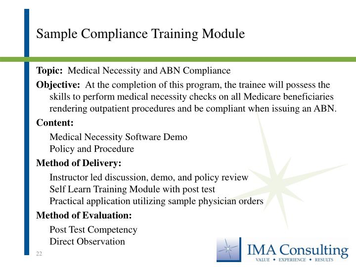 Sample Compliance Training Module
