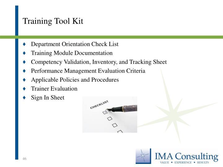 Training Tool Kit