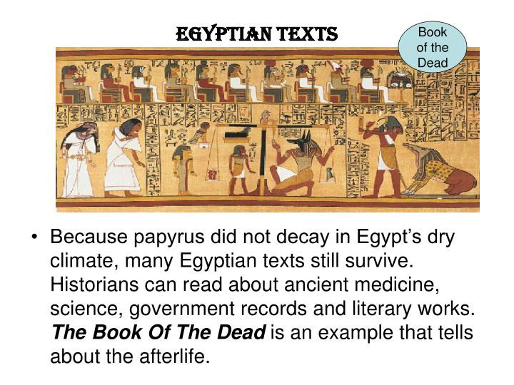 Egyptian Texts