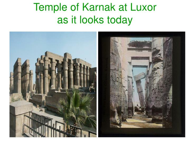 Temple of Karnak at Luxor