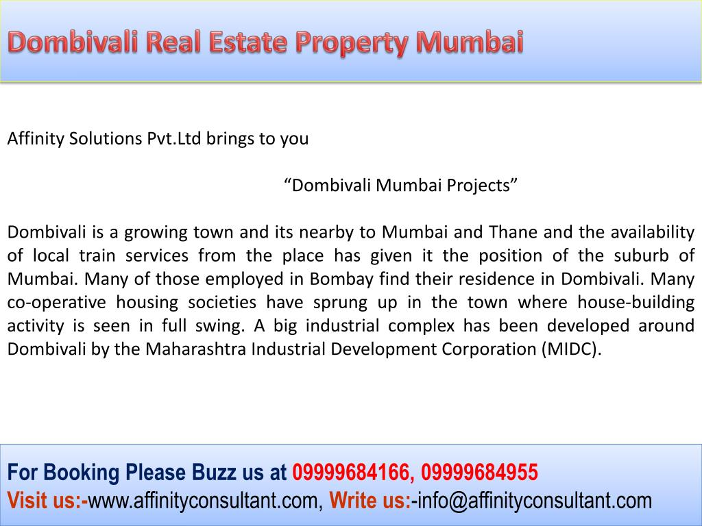 Dombivali Real Estate Property Mumbai