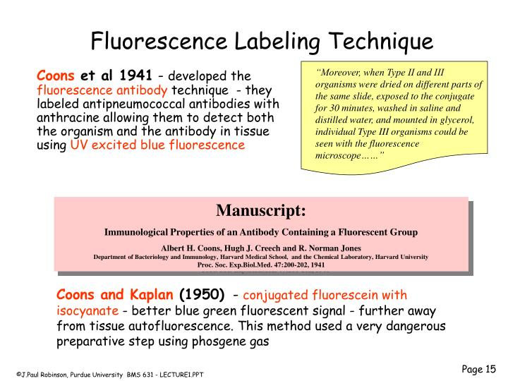 Fluorescence Labeling Technique