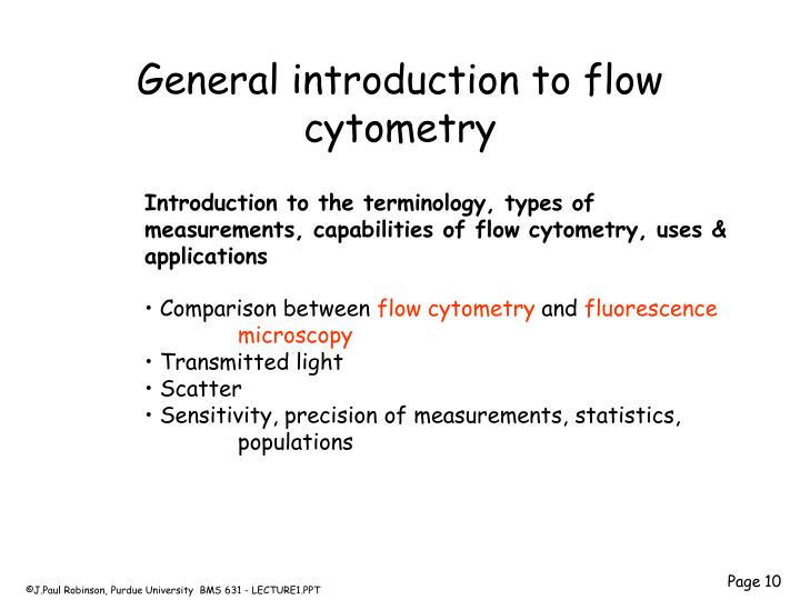 General introduction to flow cytometry