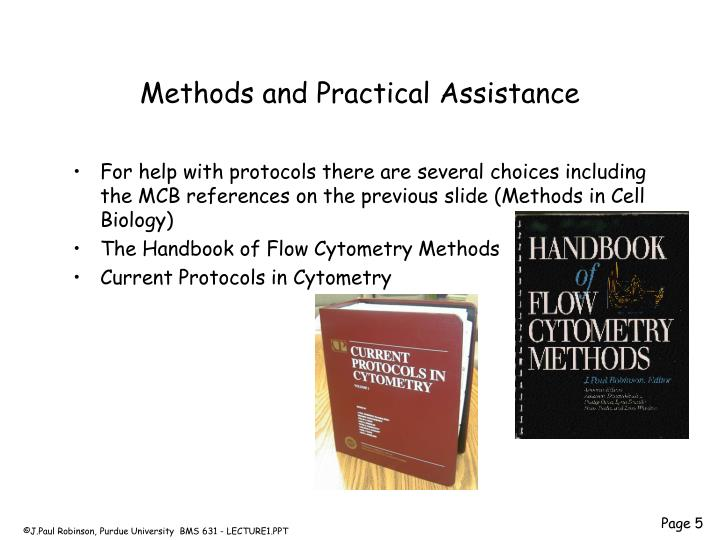 Methods and Practical Assistance