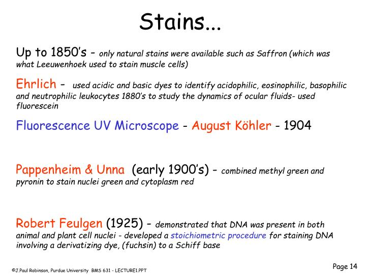 Stains...