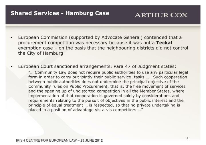 Shared Services - Hamburg Case