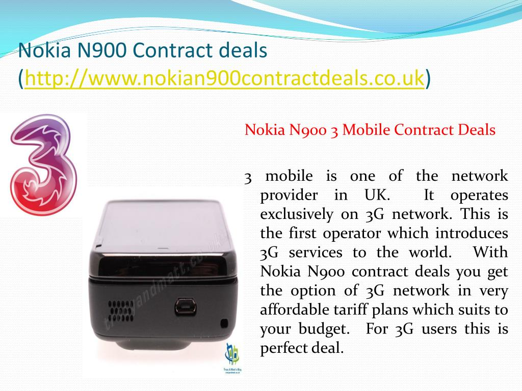 Nokia N900 Contract deals