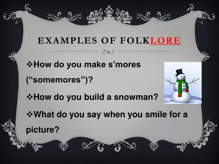 Examples of Folk
