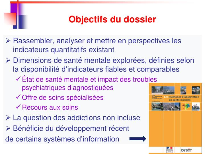 Objectifs du dossier