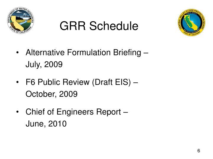 GRR Schedule