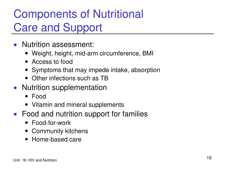 Components of Nutritional