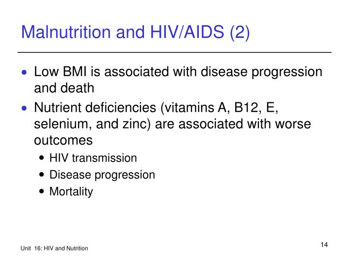 Malnutrition and HIV/AIDS (2)