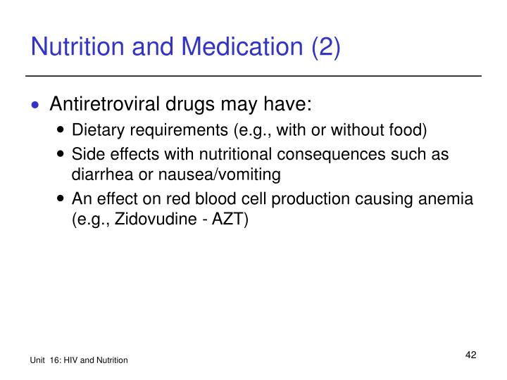 Nutrition and Medication (2)