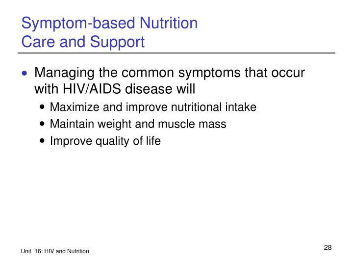Symptom-based Nutrition