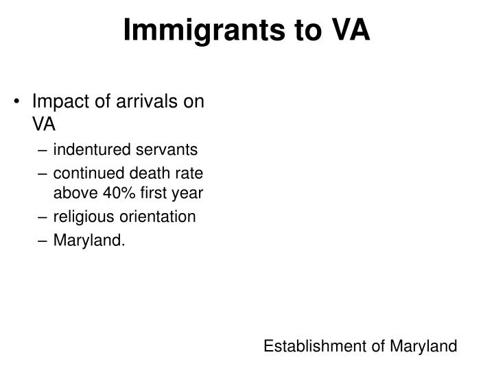 Immigrants to VA