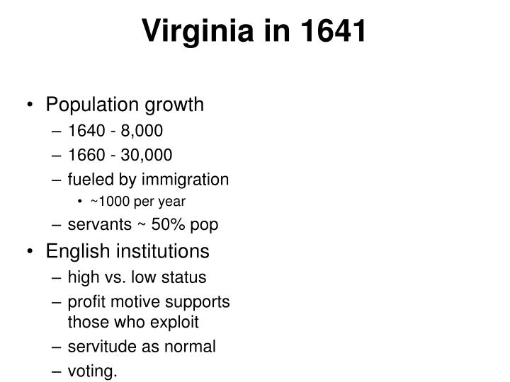 Virginia in 1641
