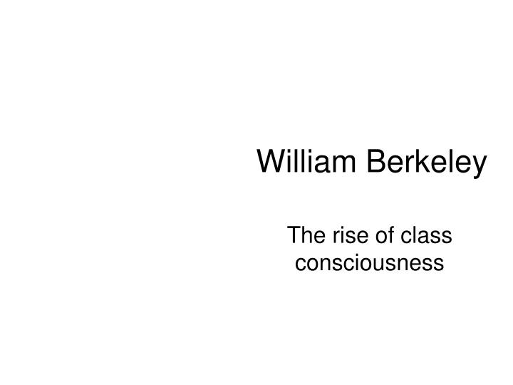 William berkeley