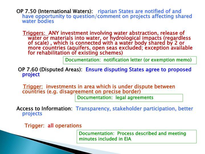 OP 7.50 (International Waters):