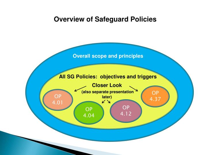 Overview of Safeguard Policies