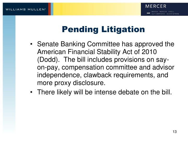 Pending Litigation