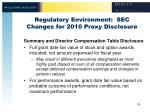 regulatory environment sec changes for 2010 proxy disclosure4