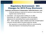 regulatory environment sec changes for 2010 proxy disclosure5