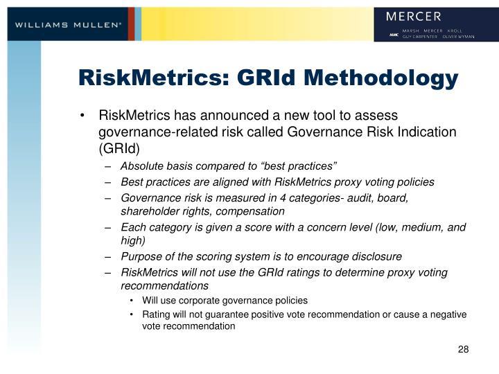 RiskMetrics: GRId Methodology