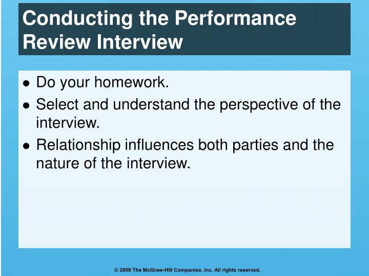 Conducting the Performance Review Interview