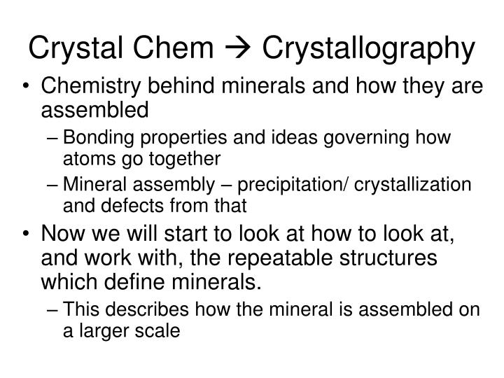Crystal chem crystallography