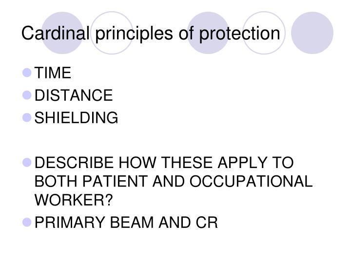 Cardinal principles of protection