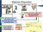 materials requisition