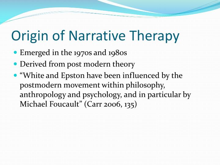 topic narrative therapy What is narrative therapy you'll find its approach, goals, examples, activities and key concepts explained here along with questions to ask.