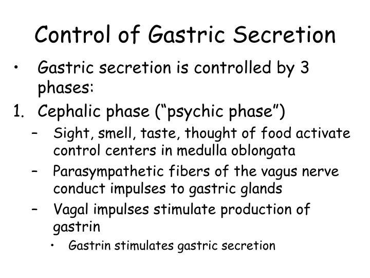 Control of Gastric Secretion