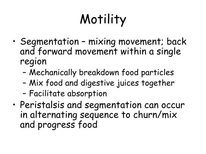 Motility