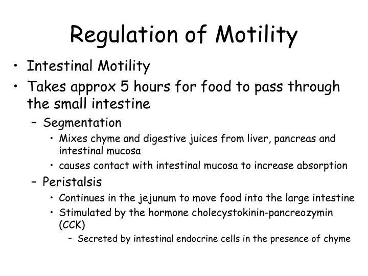 Regulation of Motility