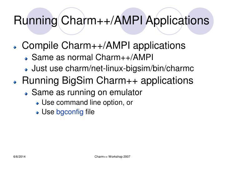 Charm++ Workshop 2007