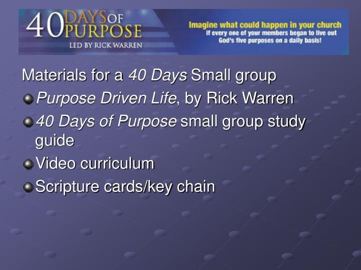 purpose driven life video study guide