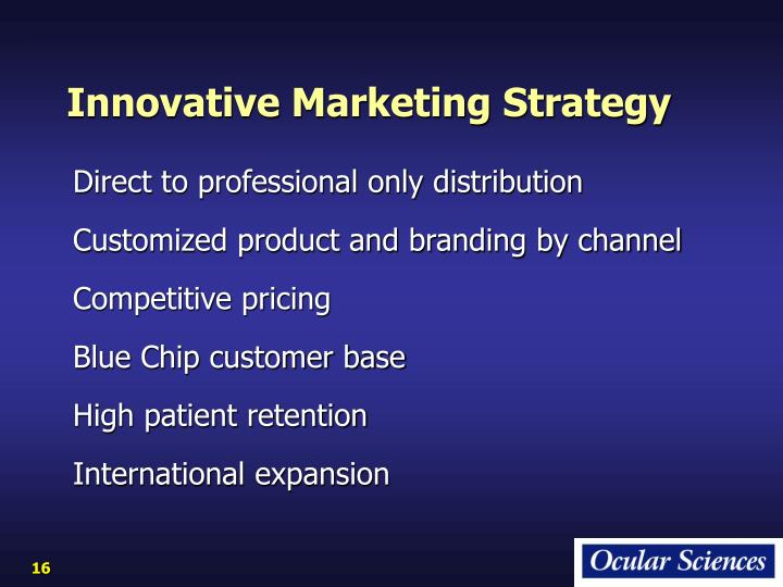 Innovative Marketing Strategy