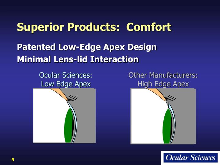 Superior Products:  Comfort