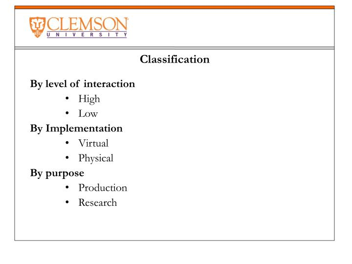 By level of interaction