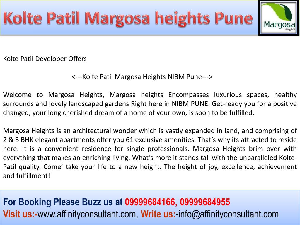Kolte Patil Margosa heights Pune