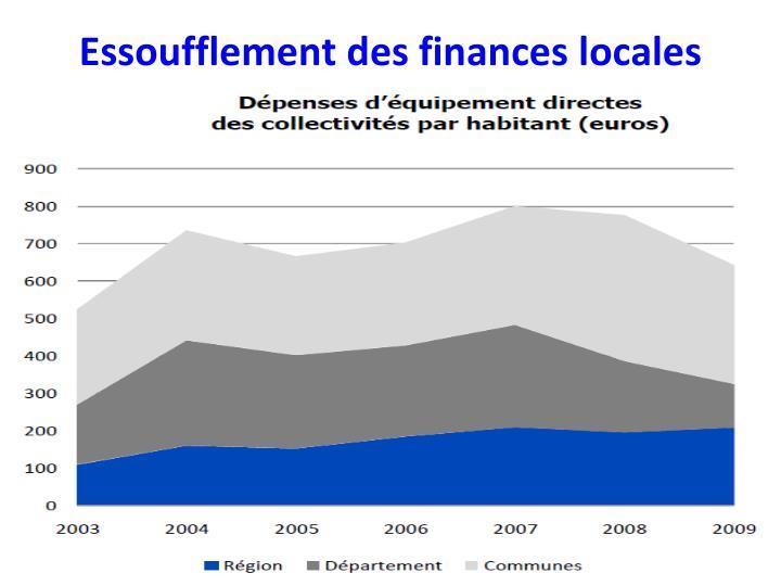 Essoufflement des finances locales