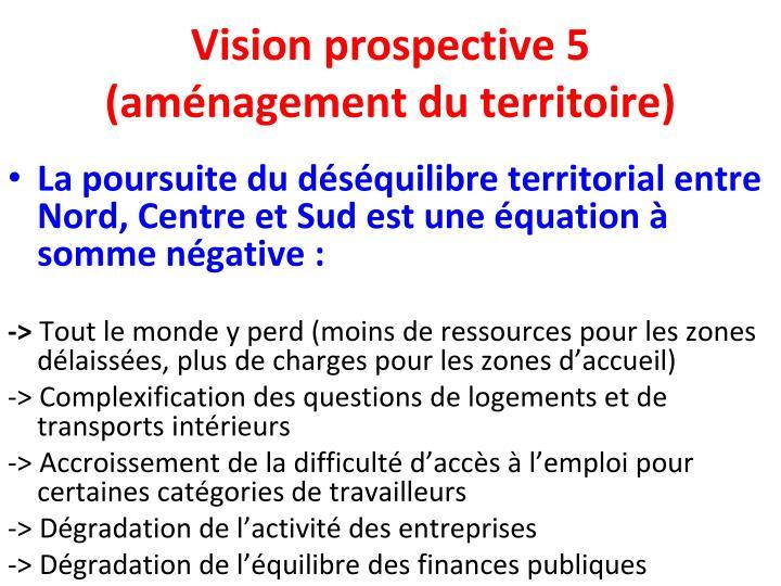 Vision prospective 5 (aménagement du territoire)